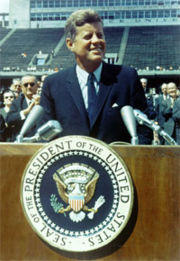 JFK commiting to moon landing
